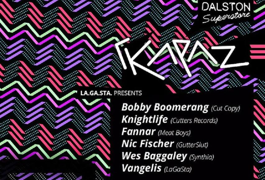 """La.Ga.Sta. presents: """"ΓΚΑΡΑΖ"""" w/ Cut Copy's Bobby Boomerang & Knightlife"""